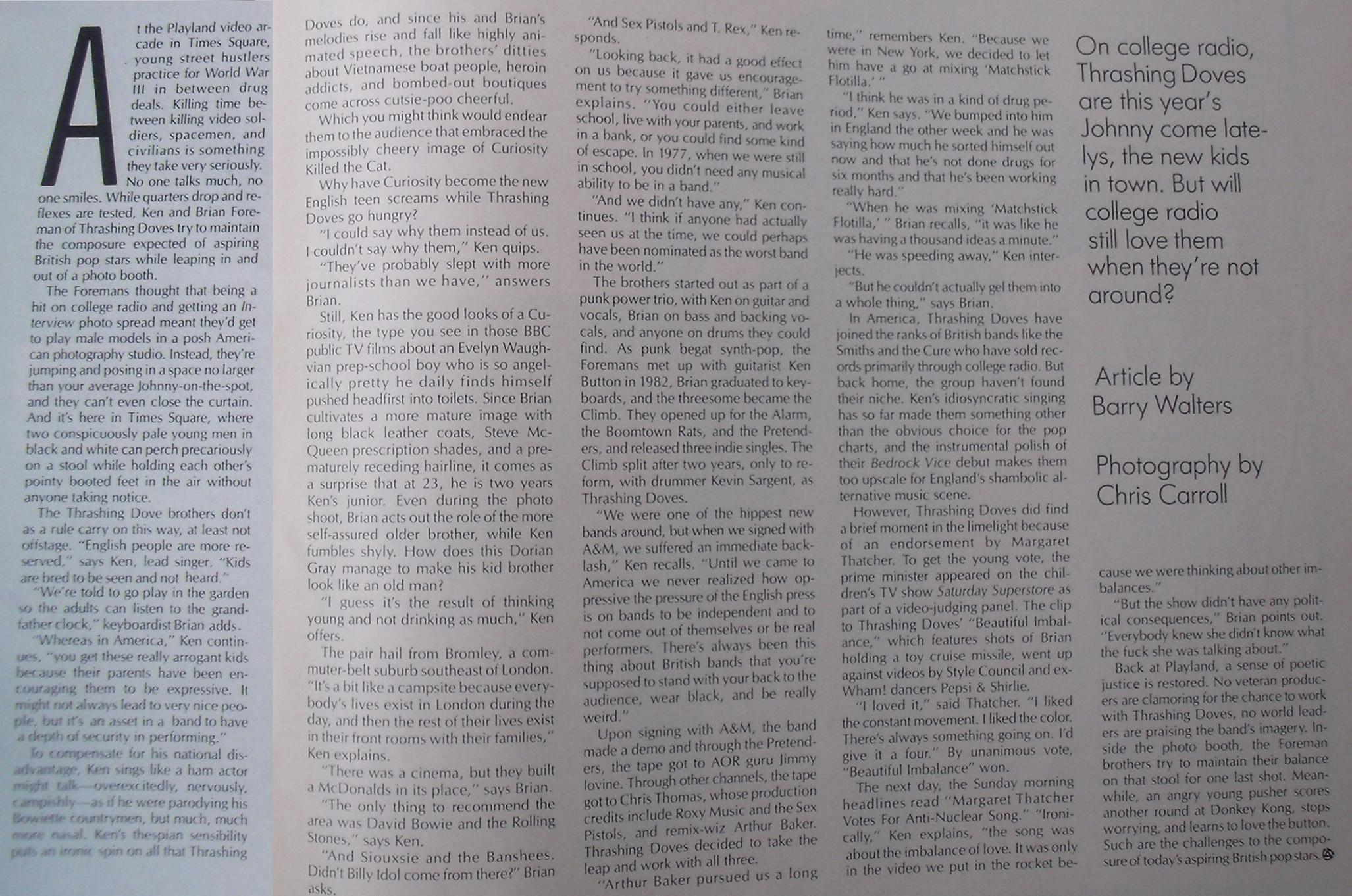 Spin Magazine August 1987 i