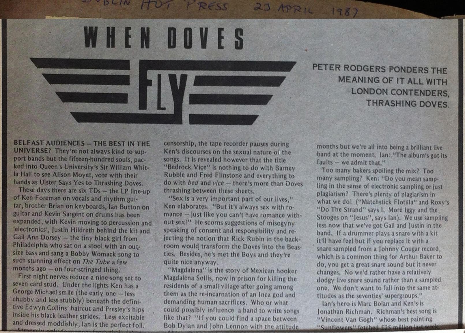 dublin hot press 23 april 87 i
