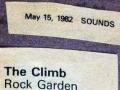 climb rock garden May 82
